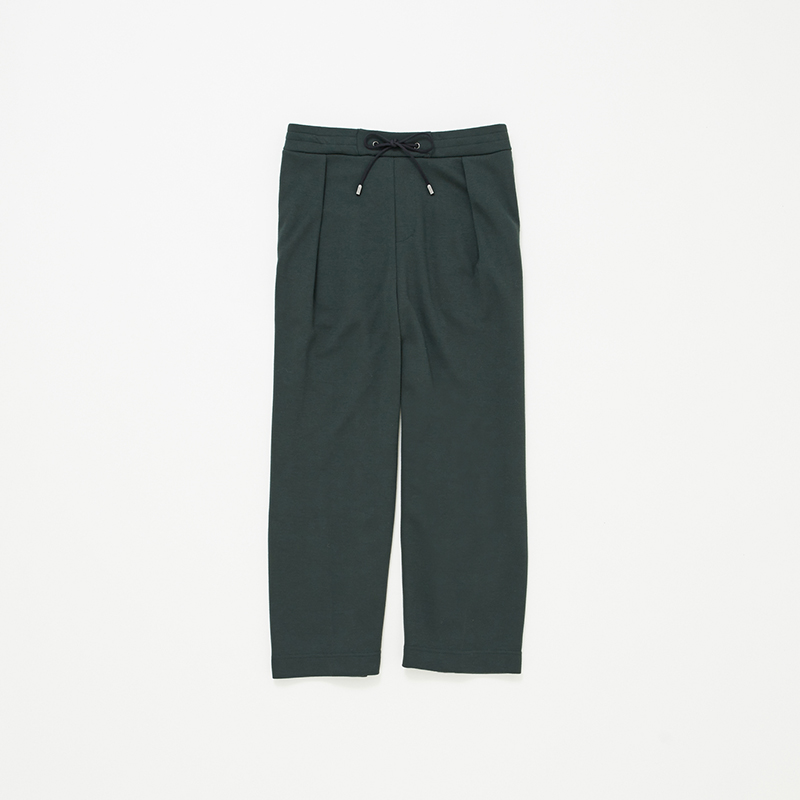 PONTE TUCK WIDE PANTS