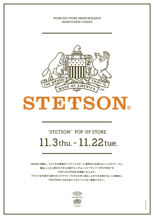STETSON POP-UP STORE