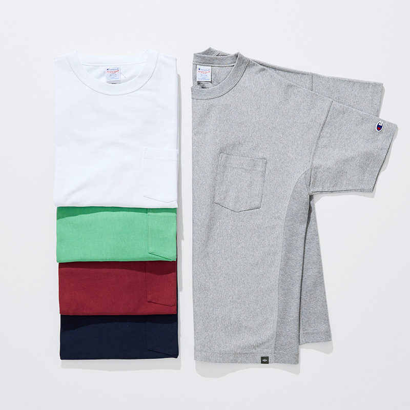 REVERSE WEAVE T-SHIRT with POCKET