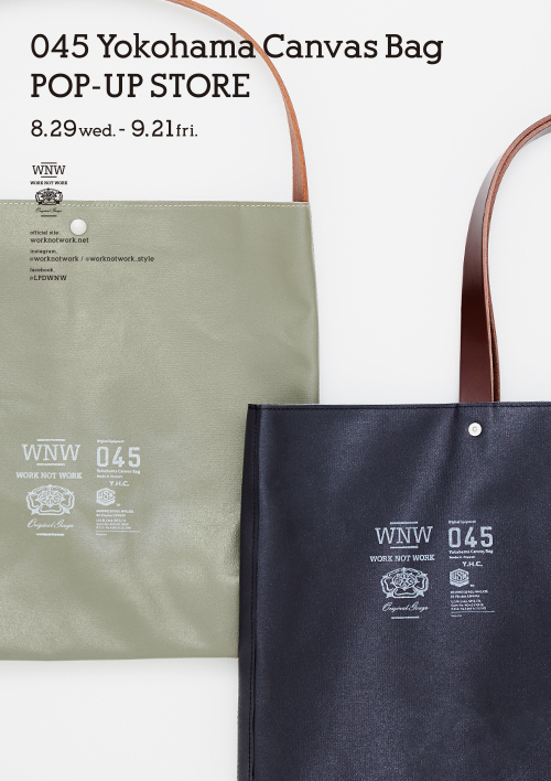 045 Yokohama Canvas Bag POP-UP STORE