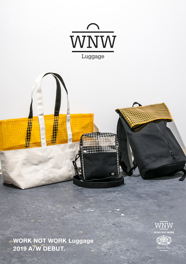 WORK NOT WORKのバッグライン「WORK NOT WORK Luggage」がスタート